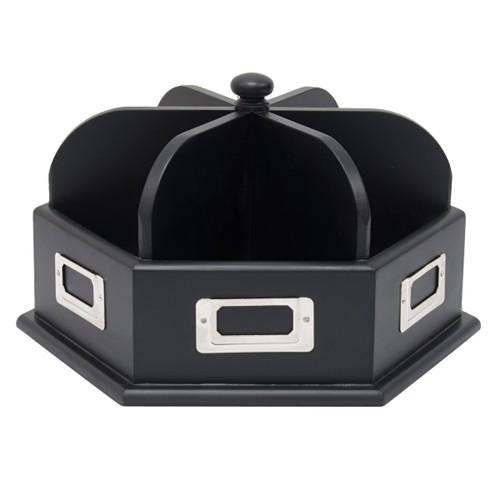 Offex Wood Desk Carousel - Black