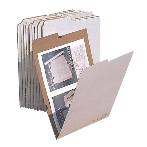 "AOS Flat Storage File Folders - 12""X18"" - Pack Of 10"