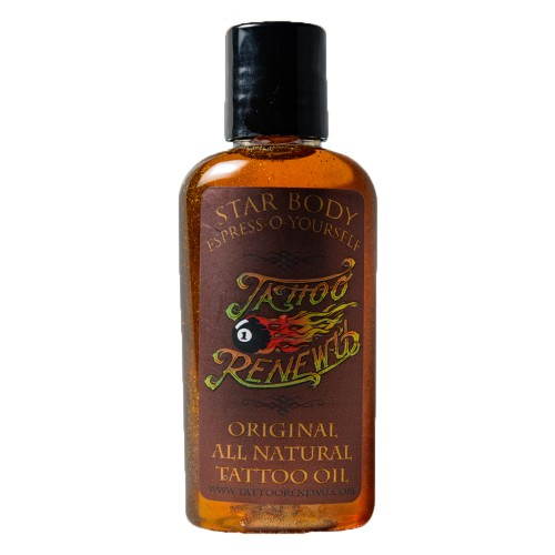 Star Body Tattoo Renew Oil, Made with Coconut & Coffee Oil