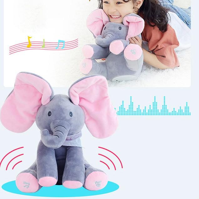 Elephant Baby Soft Plush Toy Singing Stuffed Animated Animal Kid Doll Gift