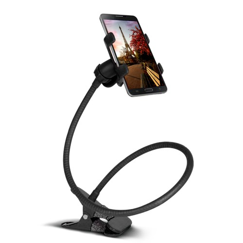 Lazy Bracket 360° Rotation Gooseneck Clip Smartphone Holder