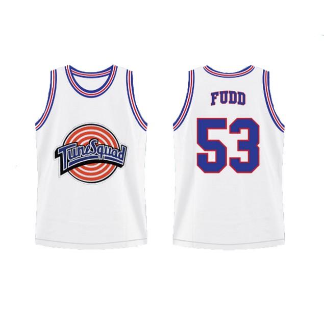 Elmer Fudd #53 Tune Squad White Jersey