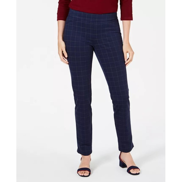Charter Club Women's Pull On Ponte Knit Pants Blue Size 2 P