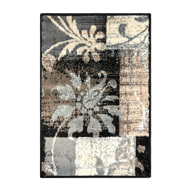 Pastiche Modern Floral Patchwork Indoor Area Rugs by Blue Nile Mills
