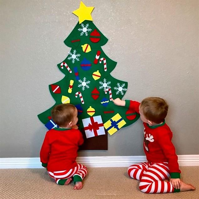 Kids Decorative DIY Felt Christmas Tree