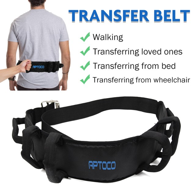 Transfer Belt Gait Belt with Handles for Senior Patient Therapy Lift Assist