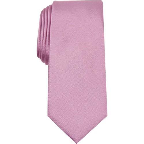 Alfani Men's Solid Silk Self-Tied Necktie Pink Size Regular