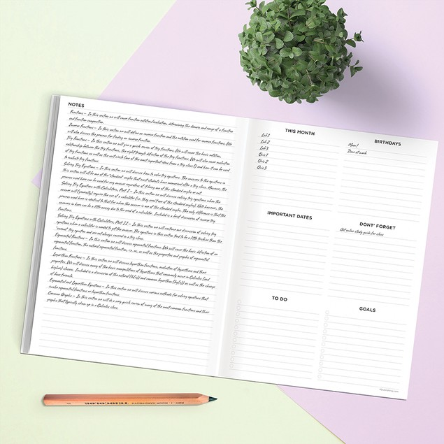 July 2020 - June 2021 Medium Monthly Appointment Planners