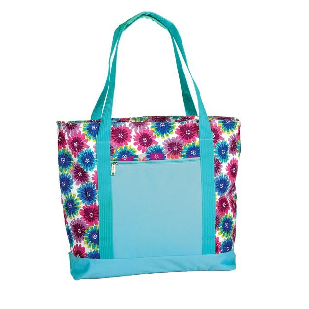 Picnic Plus Lido 2 In 1 Cooler Bag Blue Blossom