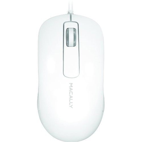 Macally 3-Button USB Wired Optical Scroll Mouse for Mac & PC