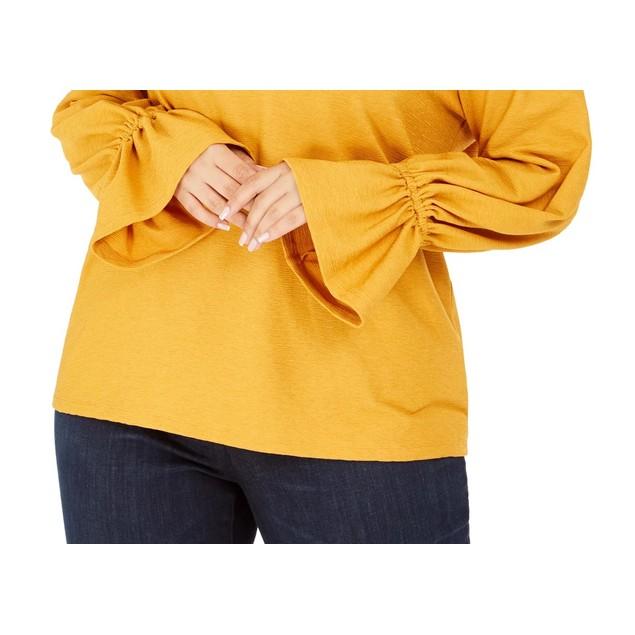 Michael Michael Kors Women's Bell Cuff Top Yellow Size 3X