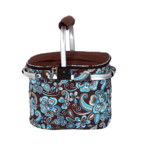 Picnic Plus Shelby Collapsible Market Tote Cocoa Cosmos