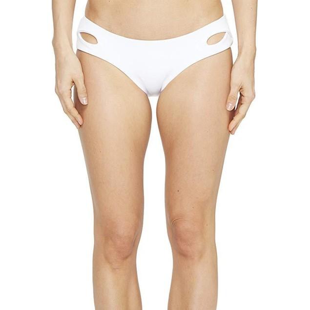 Becca by Rebecca Virtue Women's Tab Side Hipster Bikini Bottom White L