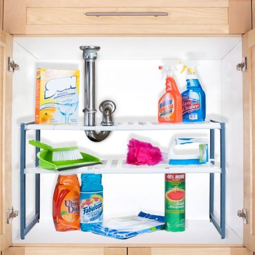 Stalwart Adjustable Under Sink Shelf Organizer Unit