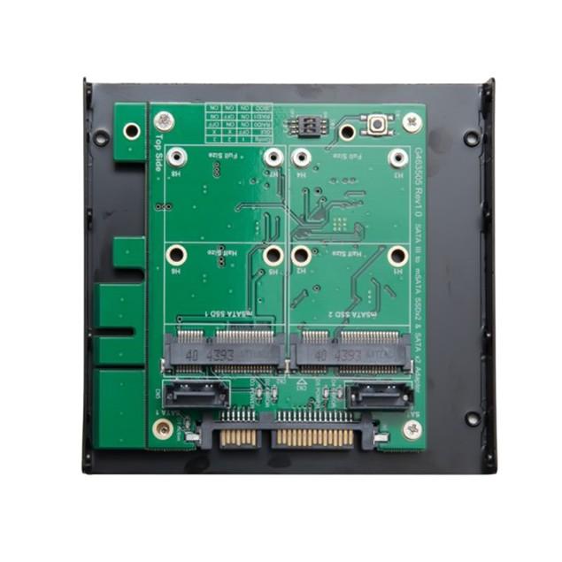 "3.5"" SATAIII to Dual mSATA RAID Adapter"