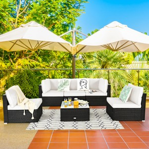 Costway 6PCS Patio Rattan Furniture Set