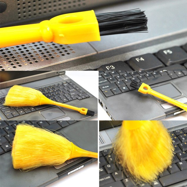 Mini Desktop Keyboard Cleaning Scanner Anti-Static Vehicle Powder Brush
