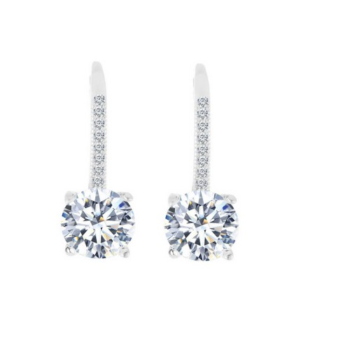 Leverback Earrings Made with Swarovski Crystals