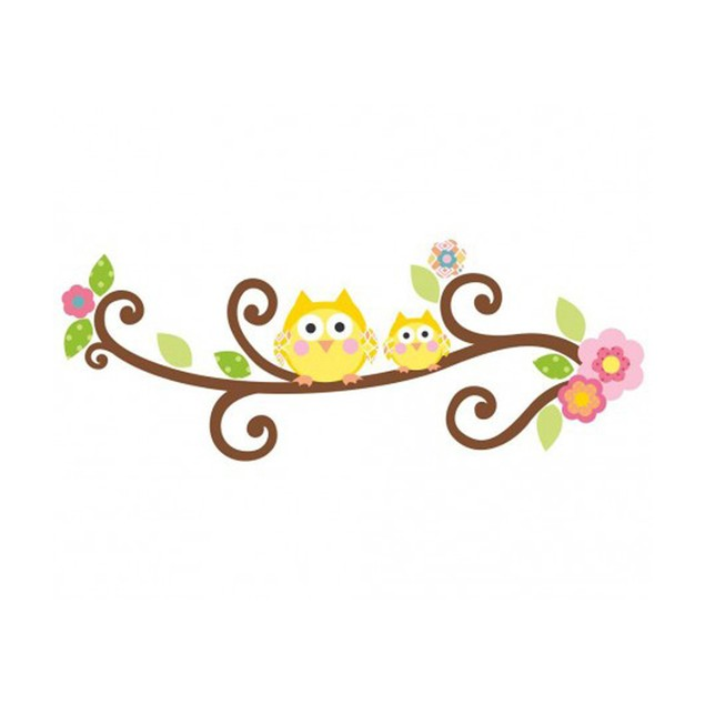 Roommates Baby Room Wall Decorative Scroll Tree Letter Branch Wall Decals