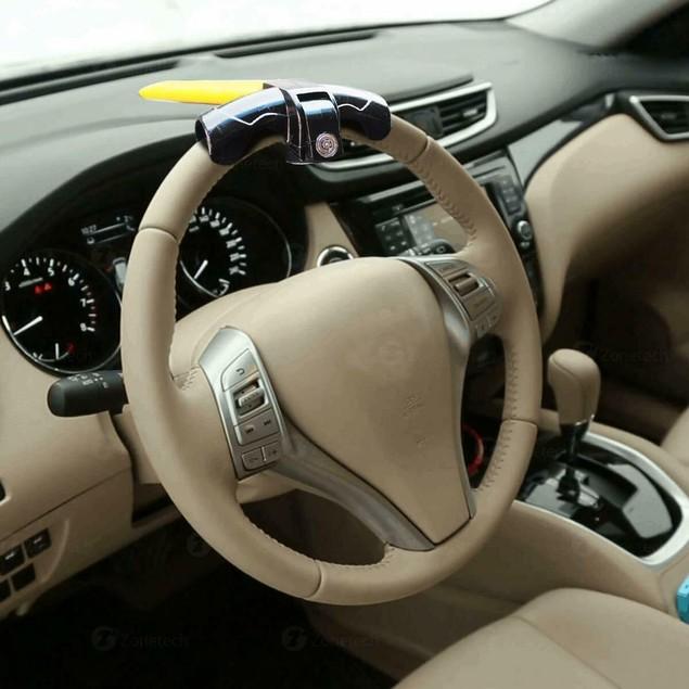 Zone Tech Car Truck Steering Wheel Rotary Lock Anti Theft Security Duty
