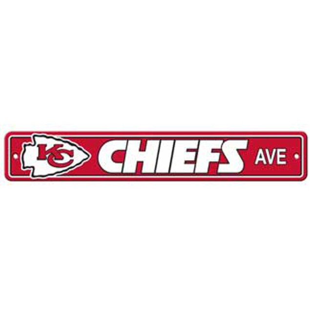 "Kansas City Chiefs Ave Street Sign 4""x24"""