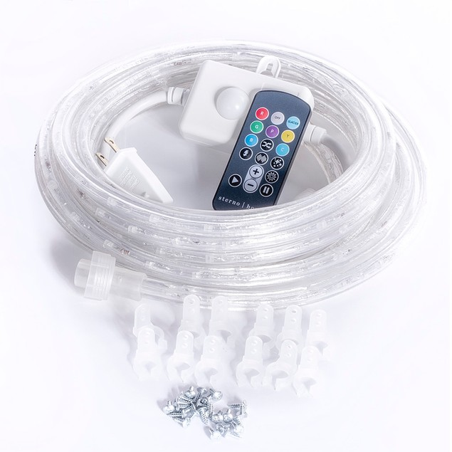 Sterno Home Multi-color LED Rope Light 5.49 m (18 ft.) Remote Control