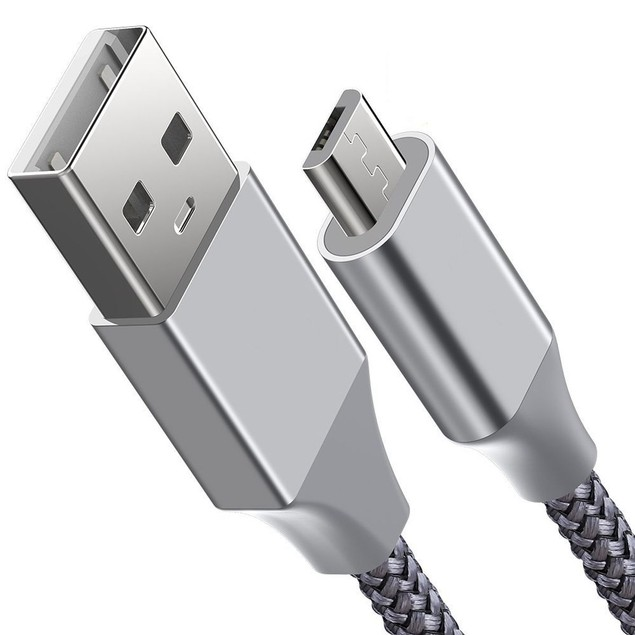 Micro USB 10-Foot Braided Cable for Samsung and Android Devices