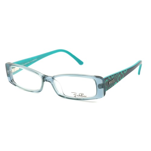 Emilio Pucci Women Eyeglasses EP2655 462 ClearBlue/Turquoise 51 14 135 Rectangle