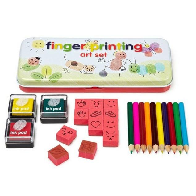 Kids   25 pc Finger Printing Art Set