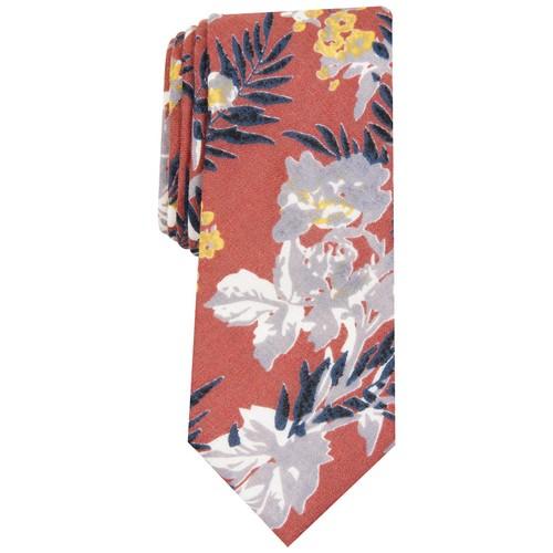 Bar III Men's Pepperwood Skinny Floral Tie Orange Size Regular