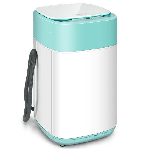 Costway 8lbs Portable Fully Automatic Washing Machine W/ Drain Pump Purple\