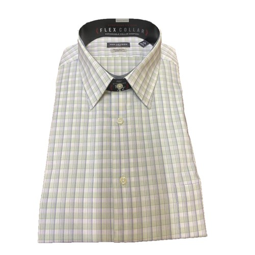 Van Heusen Men's Fresh Defense Slim-Fit Print Dress Shirt Size 15.5X34-35