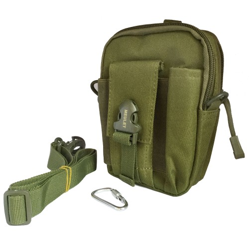 Multifunctional outdoor sports and mobile phone Military Bag Green 15 Pcs