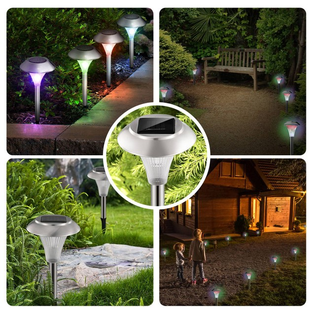 4Packs Solar Garden Lights Outdoor IP44 Waterproof Solar Pathway Lights