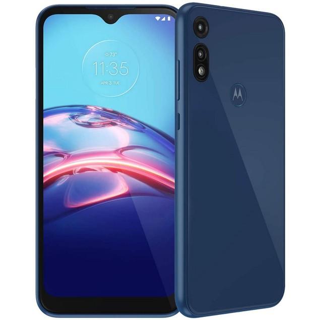 Motorola Moto E (2020), Boost Mobile, Blue, 32 GB, 6.2 in Screen