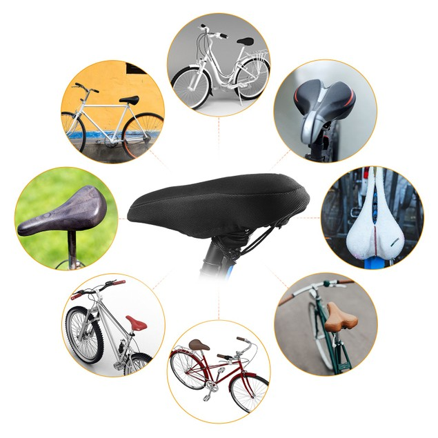 Bike Seat Cover Anti-Slip Comfortable Bicycle Padded Saddle Cover