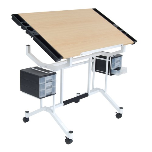Offex Pro Craft Station - White/Maple