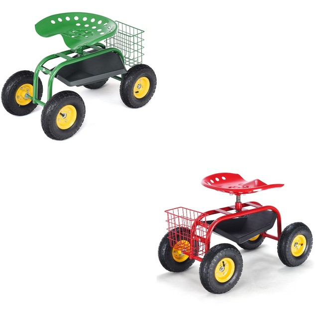 Costway Gardening & Outdoor Work Seat Cart