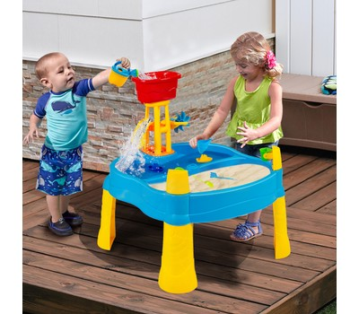 Kids Sand and Water Activity Table Sandbox with 18 Accessories Was: $149.99 Now: $89.49.