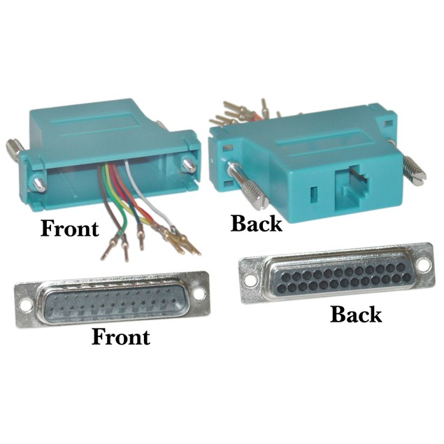 Modular Adapter, Blue, DB25 Male to RJ45
