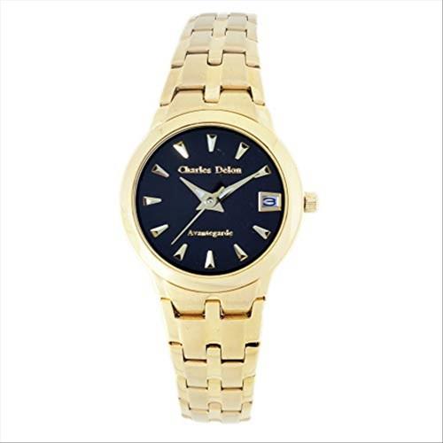 Charles Delon Women's Watches 5248 LGBD Gold/Black Stainless Steel Quartz Round