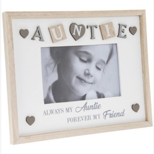 """Sentiments Frame Auntie 4X6"""" By Lesser and Pavey"""