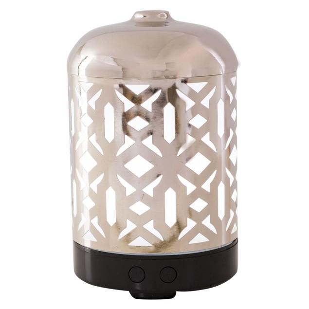 AmbiEscents - Cankiri 100 ml Ultrasonic Essential Oil Diffuser - Silver