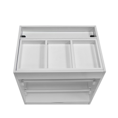 Offex Wrapping Cart - White