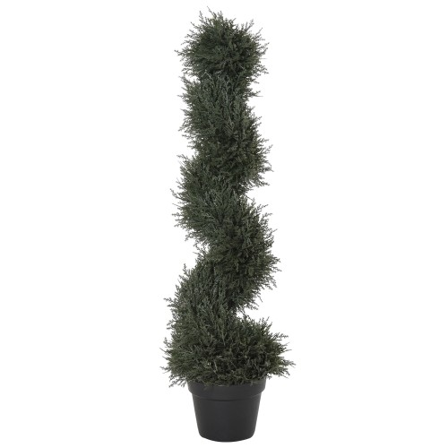 Indoor Fake Cedar Plant Feat Detailed Look & Ready-to-Use Packing