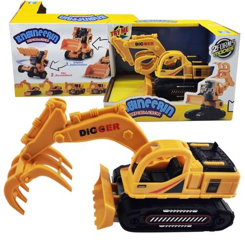 Zummy Excavator Children Deformation Car Robot Toys Engineering Car