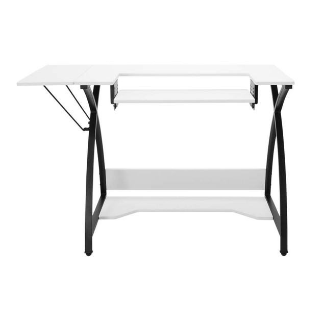 Offex Comet Hobby and Sewing Table -  Black/White