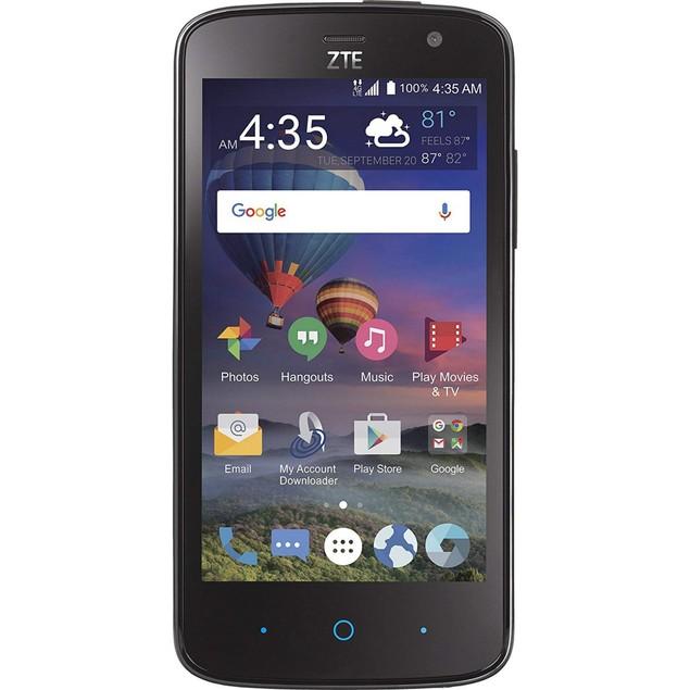ZTE Majesty Pro, Tracfone, Black, 8 GB, 4.5 in Screen
