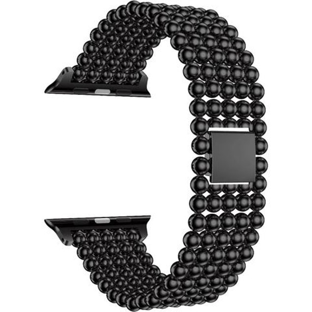 iPM Stainless Steel Beads Link Chain Watch Band for Apple Watch