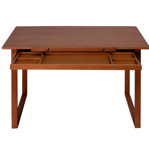 Offex Ponderosa Wood Topped Table - Sonoma Brown